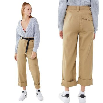Fashion Zip Leisure Cargo Pants Jeans Straight Pants Trousers