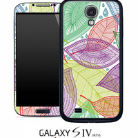 Seamless Leaves Color Skin for the Samsung Galaxy S4, S3, S2, Galaxy Note 1 or 2