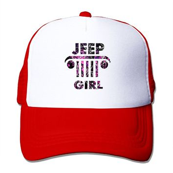 SHINENGST Jeep Girl Mesh Trucker Caps/Hats Adjustable For Unisex Black