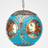 Circular Glass Lantern Blue One Size For Women 24531120001