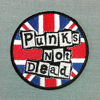 Patch Punks Not Dead Sex Pistols Punk Rock Anglais Musique UK Ecusson Brodé Applique : Déco, Customisation Textile par thaicraftvillage
