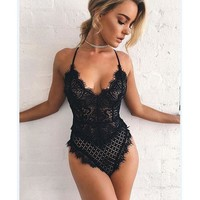 DCCK7XP 3 Colors Sexy Lace Hollow Out Sexy Exotic Lingerie