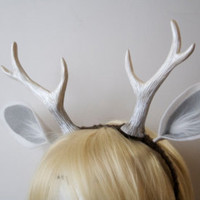 "Faun 6"" Antlers and Ears Headband / Deer Cosplay / Costume / Dark Brown"