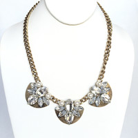 Other Side Crystal & Pearl Statement Necklace Set