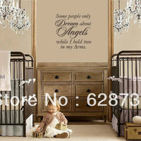 letter diamond Picture - More Detailed Picture about Free sipping Vinyl Wall Lettering Nursery Quote Some People Dream of Angels I Hold One for Nursery or kids room decor Picture in Wall Stickers from i story | Aliexpress.com | Alibaba Group
