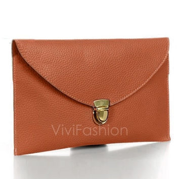 New Fashion Women's Golden Chain Envelope Purse Clutch Synthetic Leather Handbag Shoulder Bag Dinner Party VVF = 1830077636