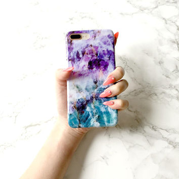MERMAID GLOW iPhone X 8 7 6 6s Plus Marble Phone Case iPhone 8 Case iPhone 7 Case iPhone 6s Case iPhone 6 Case Marble Phone Protective Cover