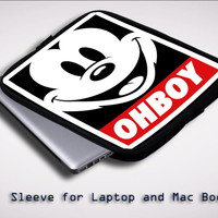 Mickey Mouse Disney Obey Ohboy X0071 Sleeve for Laptop, Macbook Pro, Macbook Air (Twin Sides)