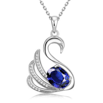 White Gold Plated Elegant Dove Necklace
