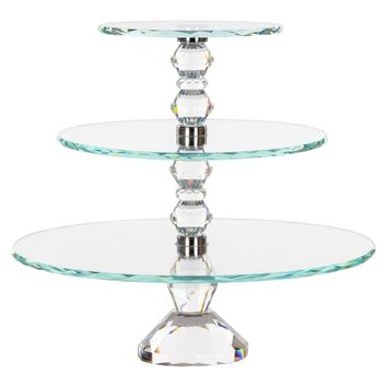 3-Tier Solid Crystal Cupcake Stand