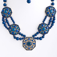 Festival Jewel Bead Statement Necklace
