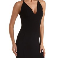 Strappy Bodycon Halter Dress by Charlotte Russe