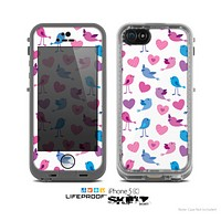 The White with Pink & Blue Vector Tweety Birds copy Skin for the Apple iPhone 5c LifeProof Case