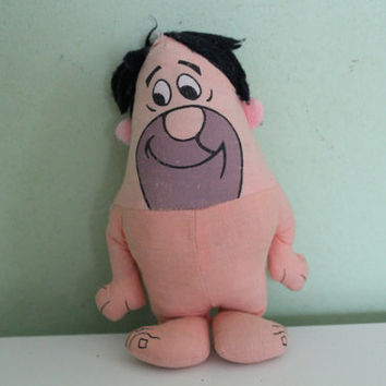 Rare Vintage FRED FLINTSTONE Plush Doll, Plush Figurine, Collectible