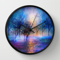 Paisaje y color II Wall Clock by Viviana González