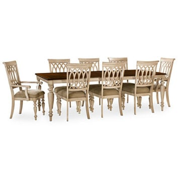 Dovewood Dining Room Furniture, 9 Piece Set (Table, 6 Side Chairs and 2 Arm Chairs) - All Dining Room - Furniture - Macy's