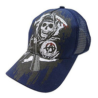 Sons of Anarchy Reaper Mesh Snapback Ball Cap - Blue
