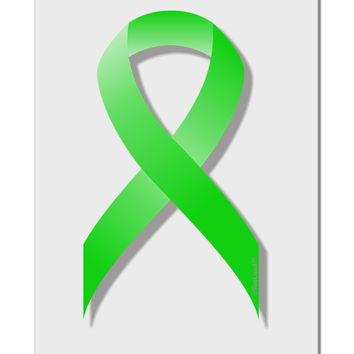 "Lyme Disease Awareness Ribbon - Lime Green Aluminum 8 x 12"" Sign"