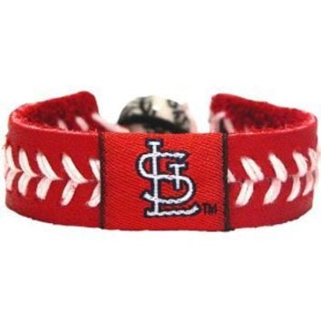 MLB St. Louis Cardinals Team Color Baseball Bracelet
