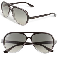 Women's Ray-Ban 59mm Resin Aviator Sunglasses - Light Grey Gradient