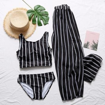 2 Two Piece Bikini Bathing Suit Swimwear Female Whole Swimsuits Bath Clothes 2 Piece Swimsuit Women New Beach Skirt Three Bikini Set Breeze Split KO_21_2