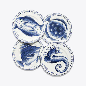 Tory Burch Fish Plate, Set Of 4