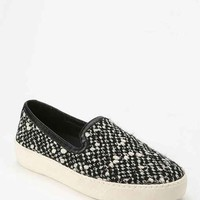 Sam Edelman Crackle Slip-On Sneaker- Black & White