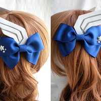 Captain America Bow Barrettes