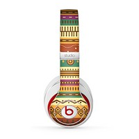 The Aztec Tribal Vintage Tan and Gold Pattern V6 Skin for the Beats by Dre Studio (2013+ Version) Headphones