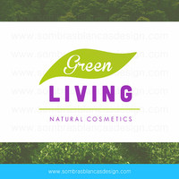 OOAK Premade Logo Design - Green Leaf - Perfect for a natural cosmetics brand or a clean eating blog
