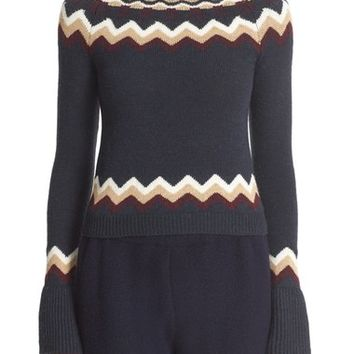 RED Valentino Fair Isle Sweater | Nordstrom
