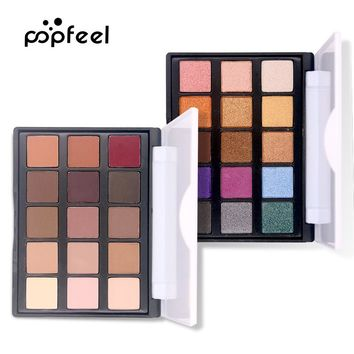 15 Color Eye Shadow luminous Glitter Natural Easy to wear Shimmer Waterproof Matte Eyeshadow Palette Makeup