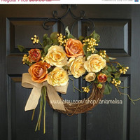 WREATHS ON SALE summer wreaths fall wreaths gift ideas wild roses monogram wreaths front door wreaths decorations outdoor wreaths