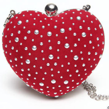 Heart Shape Clutch Handbag