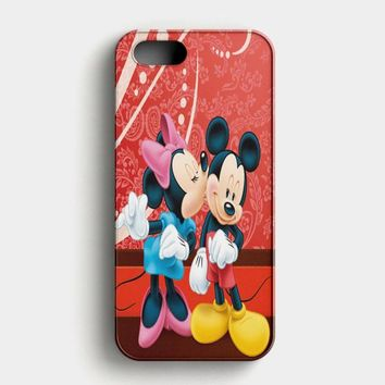 Minnie Mouse Kiss Mickey Mouse iPhone SE Case