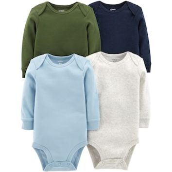 Baby Boy Carter's 4-pk. Solid Long Sleeve Bodysuits | null
