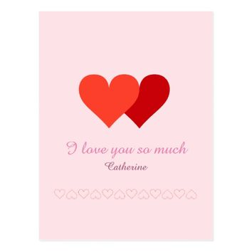 I love you so much postcard