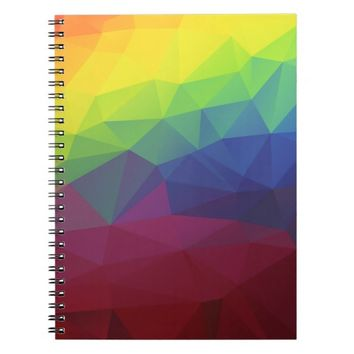 Colorful Modern Abstract Geometric Pattern Spiral Note Books