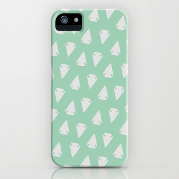 Arrowheads - Mint Green / Pantone Hemlock iPhone & iPod Case by alterEGO