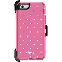 """OtterBox Defender Series Case and Holster for Apple iPhone 6 / 6S 4.7"""" - Candied Dots (Pink/White) (Certified Refurbished) ***NOT for iPhone 6 PLUS***"""