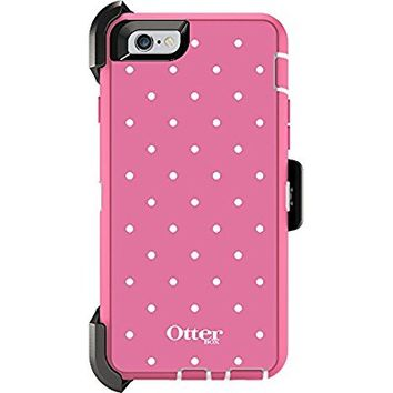 "OtterBox Defender Series Case and Holster for Apple iPhone 6 / 6S 4.7"" - Candied Dots (Pink/White) (Certified Refurbished) ***NOT for iPhone 6 PLUS***"