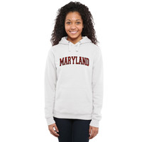 Maryland Terrapins Ladies Arch Name Pullover Hoodie - White