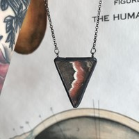Cecropia Moth Triangle Necklace
