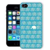 ChiChiC Iphone case,i phone 5c case,iphone 5c case,iphone5c covers, plastic cases back cover skin protector,gold blue elephant