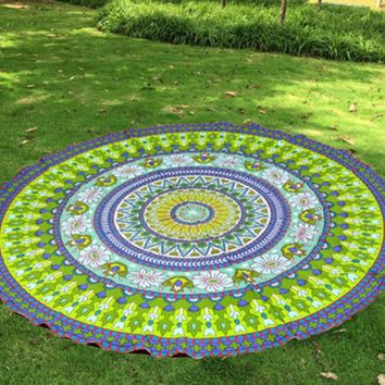 New Mandala Beach Blanket (Green)