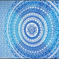 Tapestry Wall Hanging Large Yoga Boho Hippie Bohemian Indian Mandala Ombre