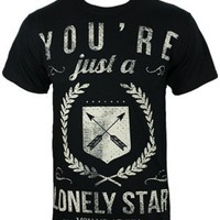 You Me At Six You're Just A Lonely Star Men's Black T-Shirt - Buy Online at Grindstore.com