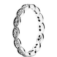 Authentic Pandora Jewelry - Sparkling Leaves Ring