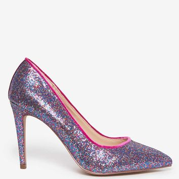 Multi Glitter 'Emily' Court Shoes | Dorothyperkins