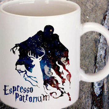 espresso patronum harry potter in galaxy for family and friends mug